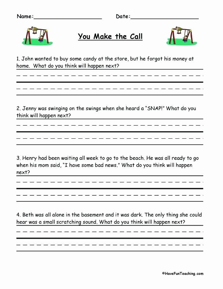 Inferencing Worksheets Grade 4 Making Predictions Worksheets 2nd Grade