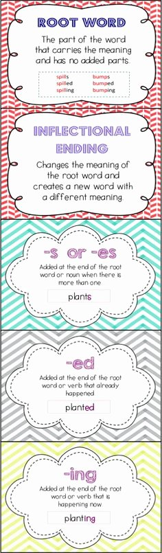 Inflected Endings Worksheets 2nd Grade 52 Best Inflectional Endings Images In 2016