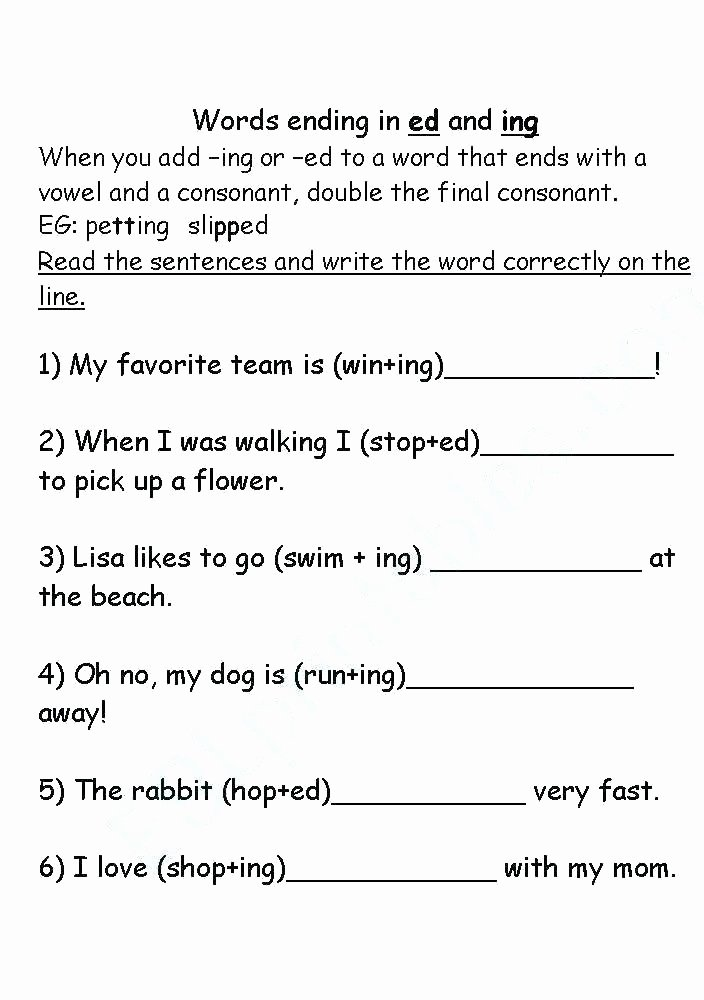 Inflected Endings Worksheets 2nd Grade Ing Worksheets