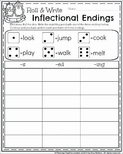 Inflected Endings Worksheets Dol Worksheets