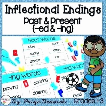 Inflectional Endings Worksheets 2nd Grade Ed Endings Worksheets Grade Inflected for Second