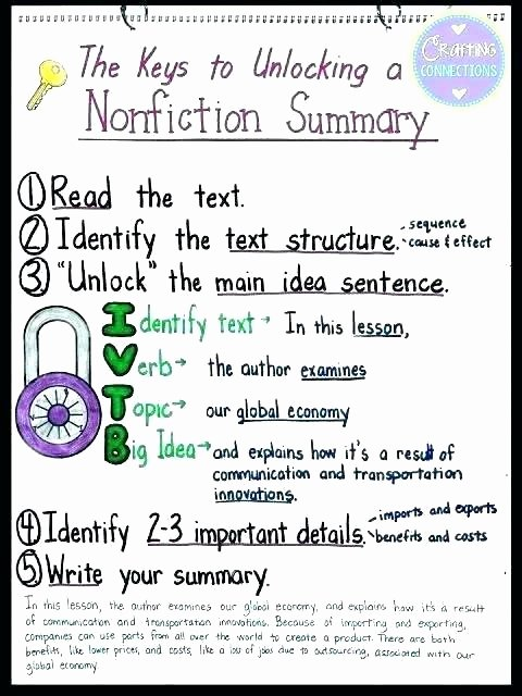 Informational Text Worksheets Middle School Summarizing Text Worksheets