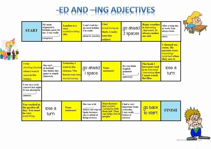 Ing Endings Worksheets Ed Ing Endings Line Games