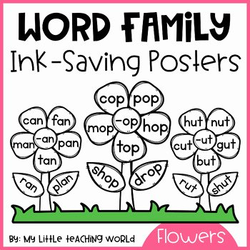 Ing Word Family Worksheets New Word Family Flowers Worksheets & Teaching Resources