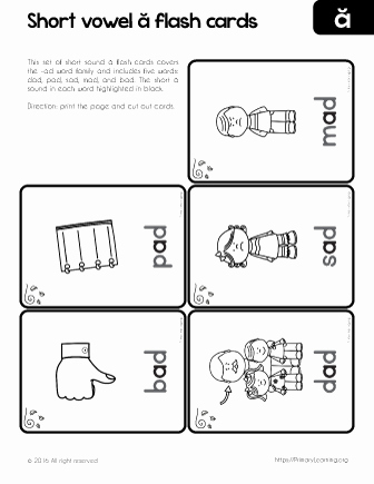Ing Word Family Worksheets Unique Ad Word Family Flashcards