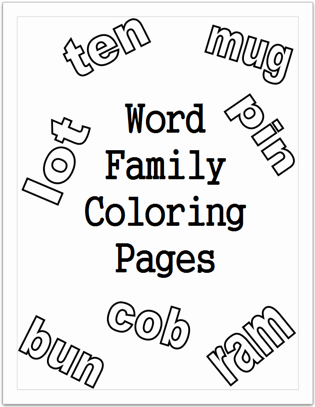 Ing Word Family Worksheets Unique Short Vowel Word Family Coloring Pages
