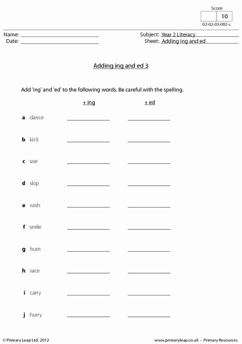 Ing Worksheets Grade 1 Lovely Adding Ing and Ed 3