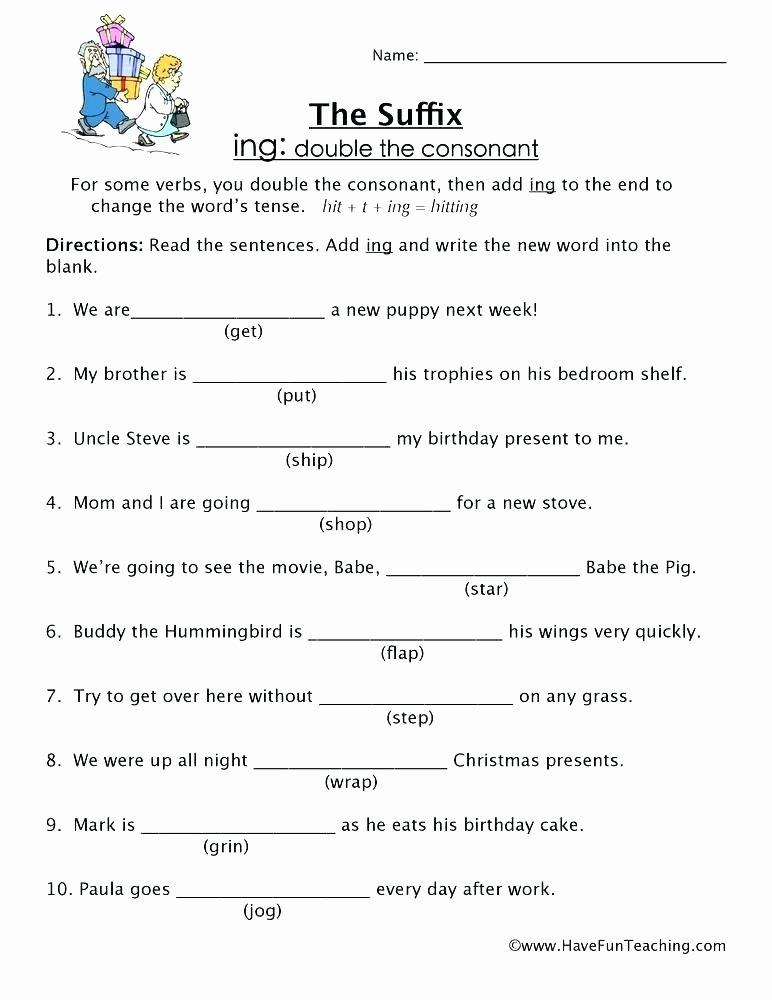 Ing Worksheets Grade 1 Lovely Free Ing Worksheets