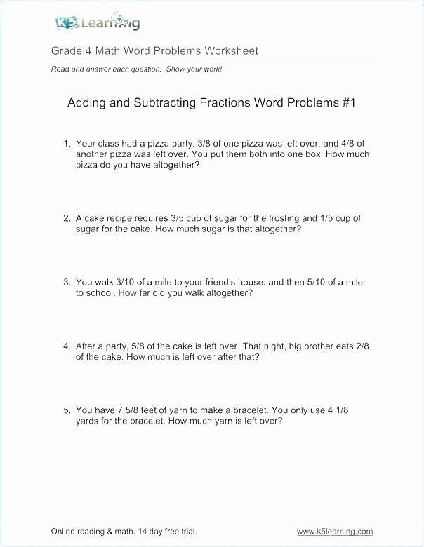 Ing Worksheets Grade 1 Lovely Math Fractions Problems solve – Parkerandmontgomery
