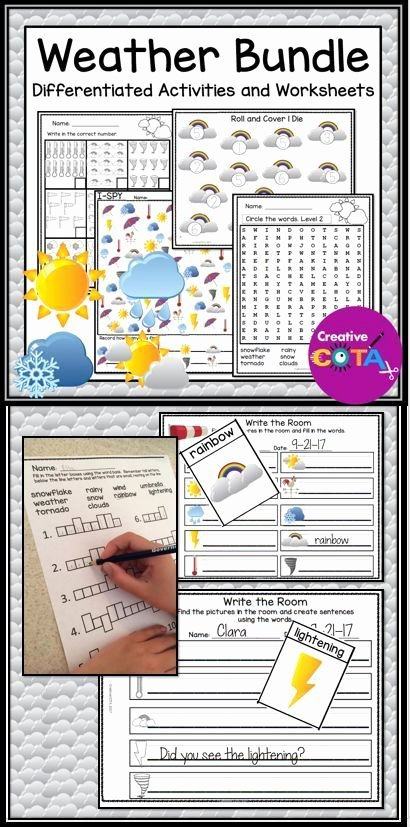 Inherited Traits Worksheet Beautiful Weather Differentiated Activities and Worksheets