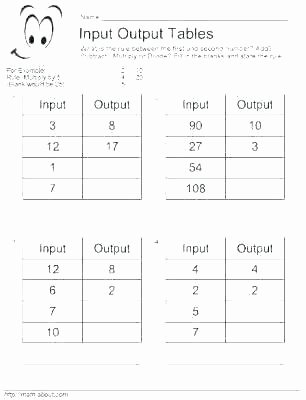 Input Output Machines Worksheets Input Output Math Worksheets