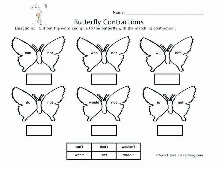 Insect Worksheets for First Grade butterfly Math Worksheets for First Grade