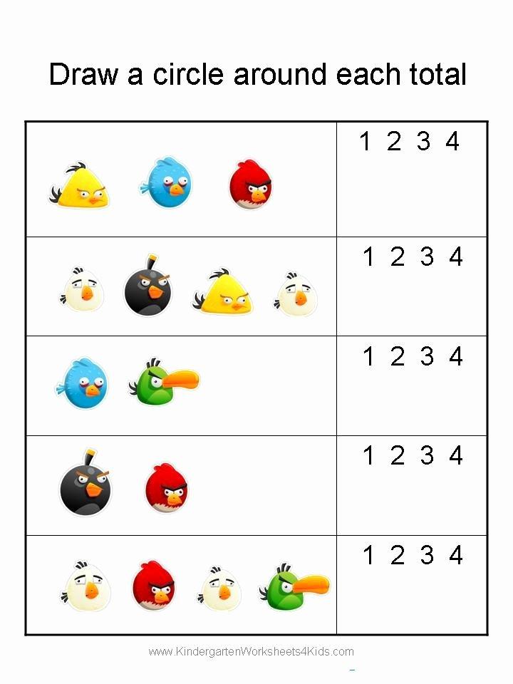 Insects Worksheets for Kindergarten Elegant Angry Birds Math Worksheets for Kindergarten