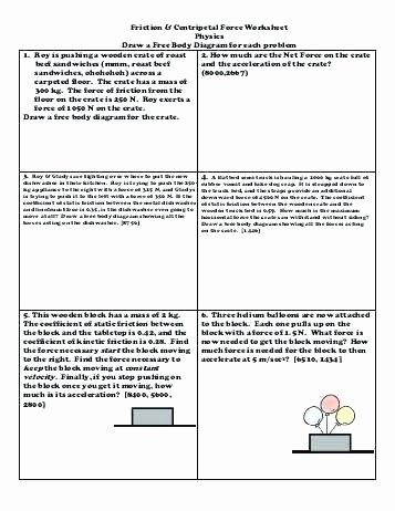Integrated Chemistry and Physics Worksheets New Fun Physics Worksheets