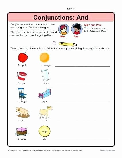 Interjection Worksheet Pdf Conjunction Worksheets