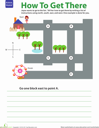 Intermediate Directions Worksheet Getting there Practice Giving Directions