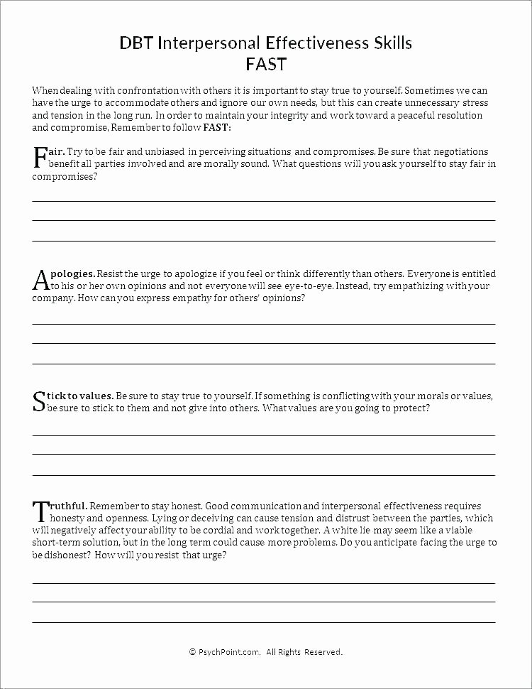 Interpersonal Communication Worksheets Free Behavior Worksheets
