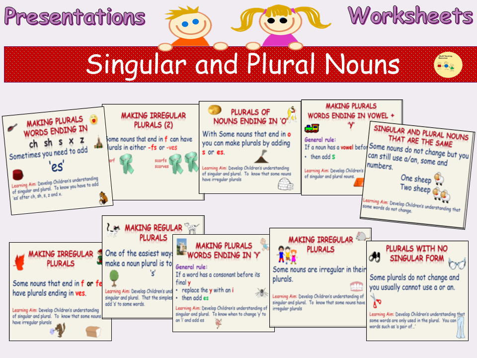 Irregular Plurals Worksheet Free Write Singular Nouns Into Plural Nouns Spellings and Vice Versa Presentations Worksheets Activies