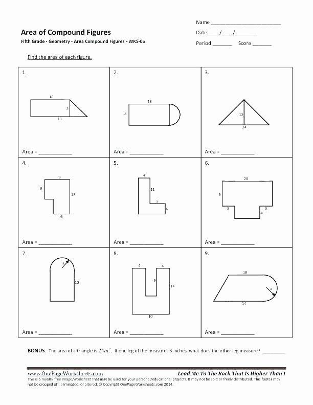 Irregular Shapes Worksheet 5th Grade Geometry Worksheets Free Math High School 4 Triangle
