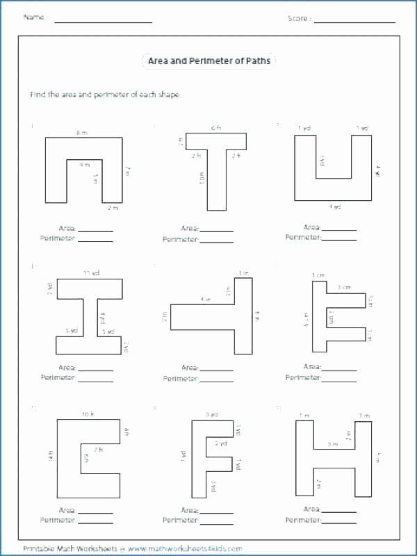 Irregular Shapes Worksheet area and Perimeter Worksheets Free Printable for Finding