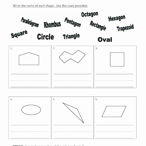 Irregular Shapes Worksheet Differentiated First Grade Geometry Worksheets by Bite Size