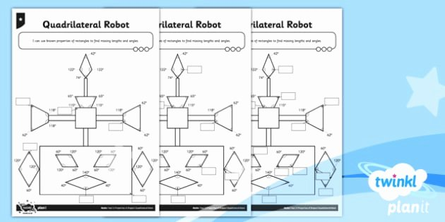 TP2 M 124 PlanIt Y5 Properties of Shapes Quadrilateral Robots Home Learning