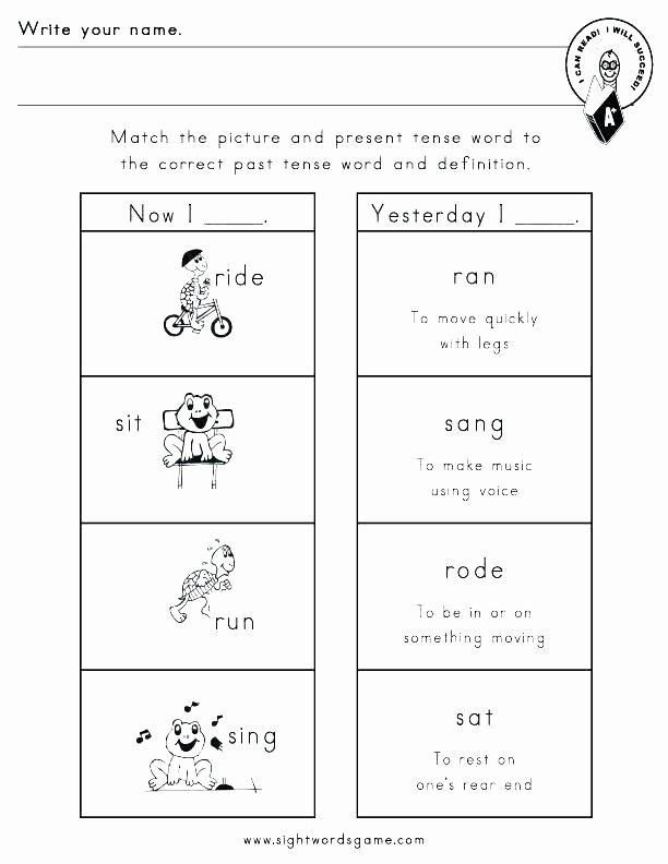 Irregular Verbs Worksheet 2nd Grade Ed Endings Worksheets Grade Inflected for Second