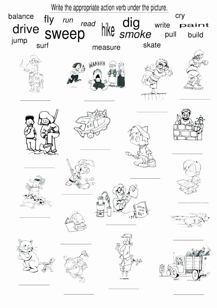 Irregular Verbs Worksheet 2nd Grade Nouns and Verbs Worksheets 2nd Grade