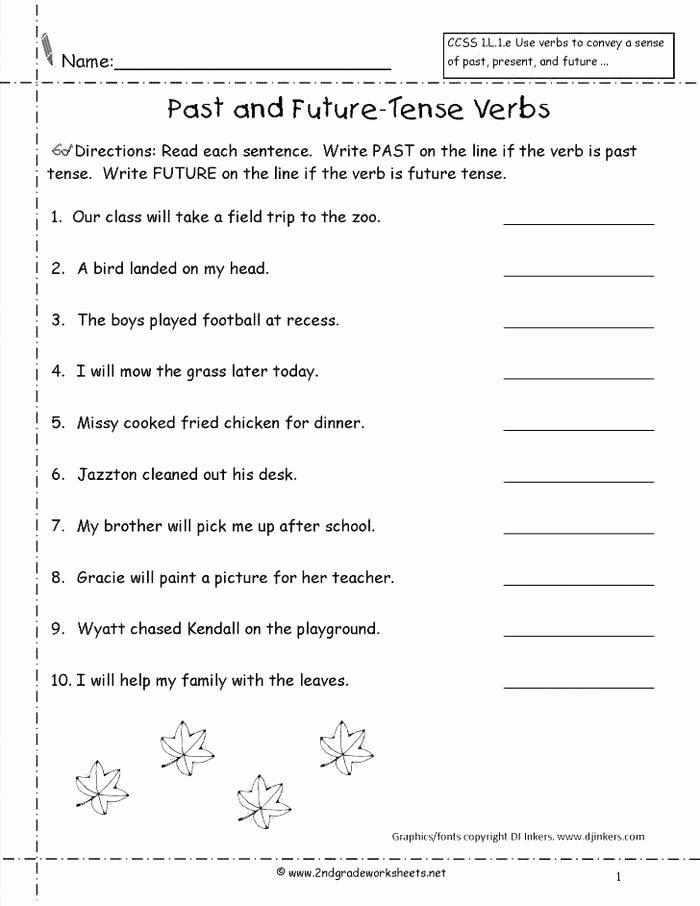 Irregular Verbs Worksheet 2nd Grade Past Tense Exercises