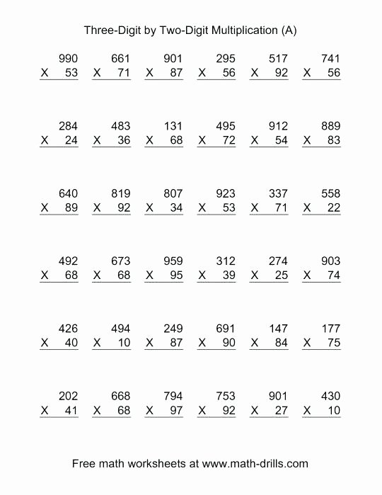 Istep Practice Worksheets 5th Grade 5th Grade Multiplication Worksheets Math Worksheets for