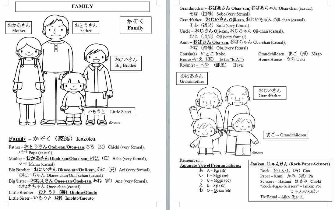 Japanese Worksheets for Beginners Printable Japanese Worksheets for Beginners