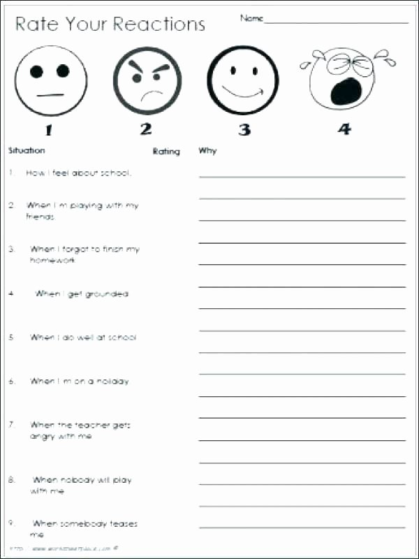 Job Readiness Printable Worksheets Feelings and Emotions Worksheets Printable Emotions