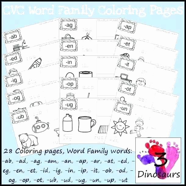 Jolly Phonics Worksheets for Kindergarten Cvc Blending Worksheets