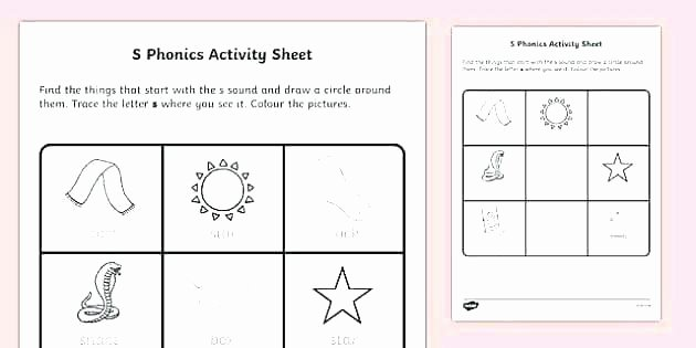 Jolly Phonics Worksheets for Kindergarten Free Phonics Worksheets for Kindergarten