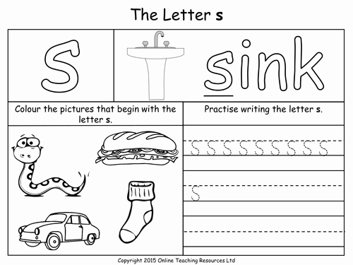 Jolly Phonics Worksheets for Kindergarten Image Result for S Worksheets Education