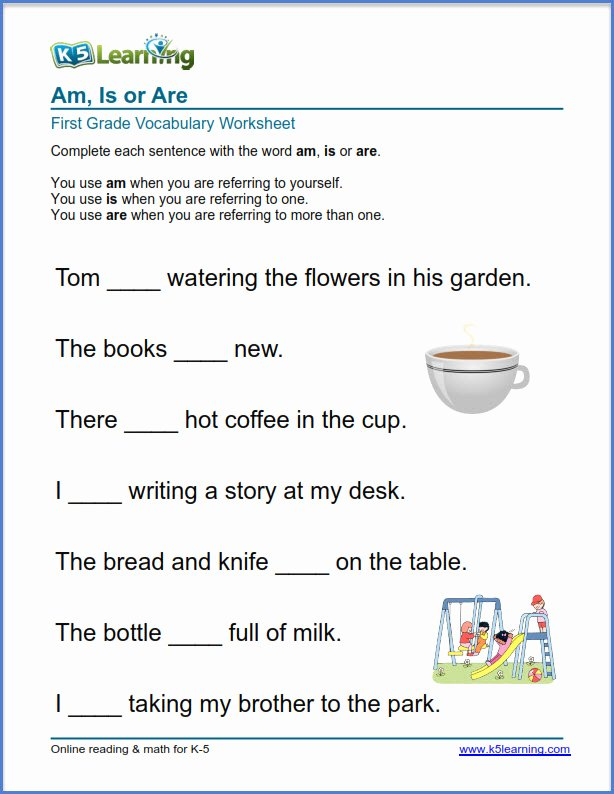 K5 Learning Math Grade 4 First Grade Vocabulary Worksheets – Printable and organized