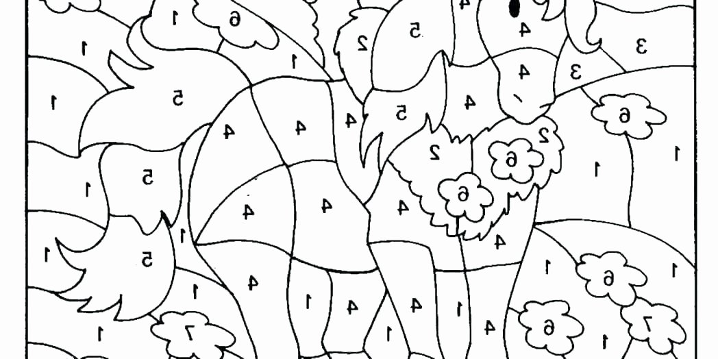 Kindergarten Color by Number Worksheets Color by Number for Kindergarten – Nagarkovil