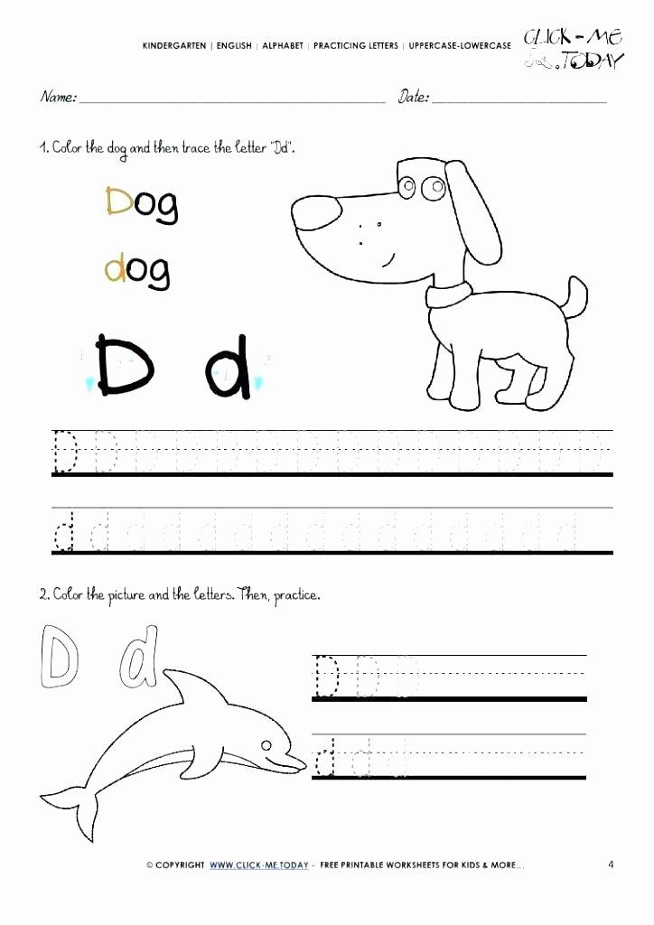 Kindergarten Color by Number Worksheets Dog Worksheets