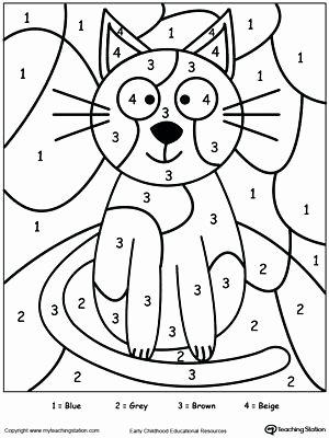 Kindergarten Color by Number Worksheets Extreme Color by Number Printable Addition Halloween