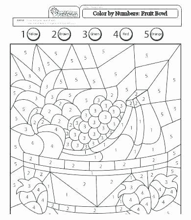 Kindergarten Color by Number Worksheets Free Printable Number Worksheets for Kindergarten