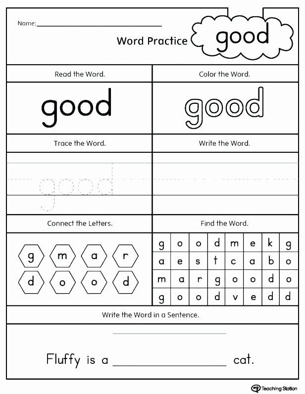 Kindergarten Color Words Worksheets Cvc Activities for Second Grade