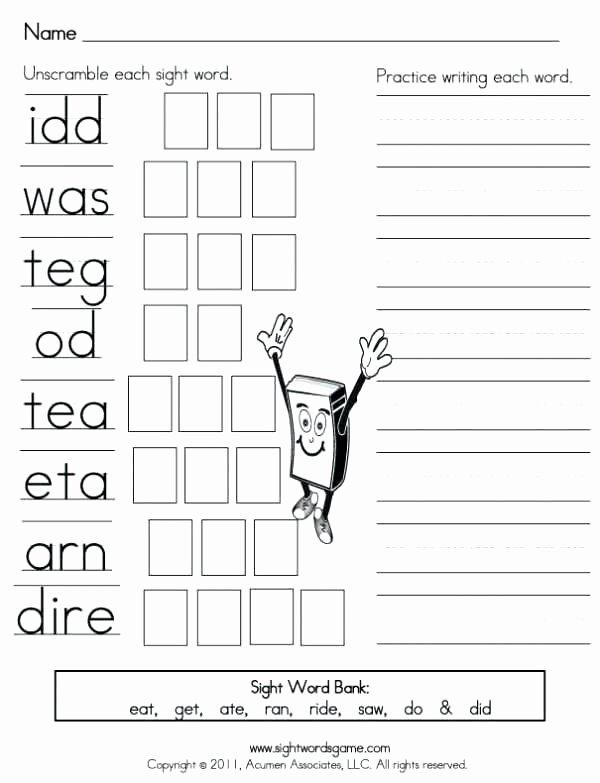 Kindergarten Color Words Worksheets Sight Word Coloring Pages Free Printable Color Worksheets