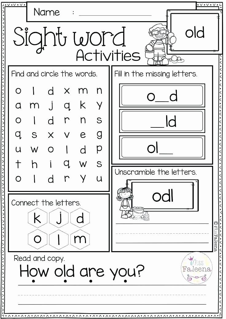 Kindergarten Color Words Worksheets Super Sight Word Worksheets Color by Number Worksheets for