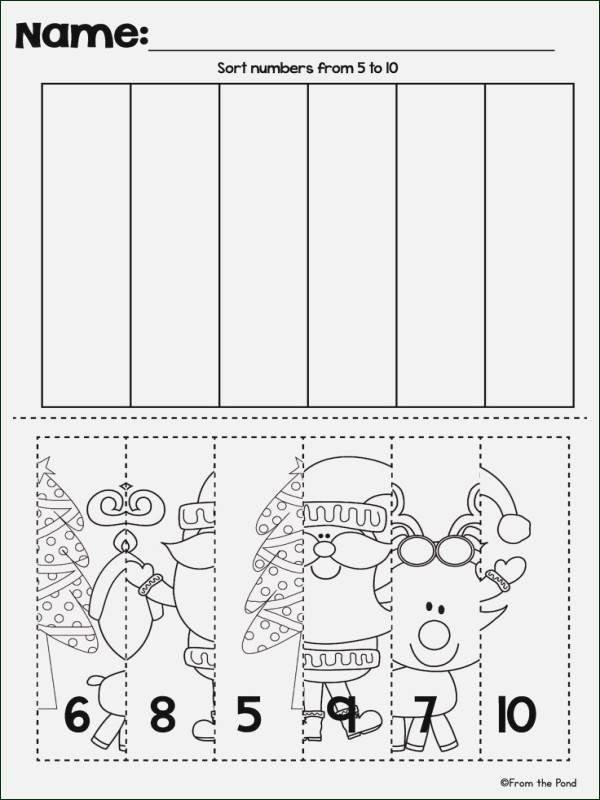 Kindergarten Cut and Paste Worksheets Christmas Worksheets for Preschool