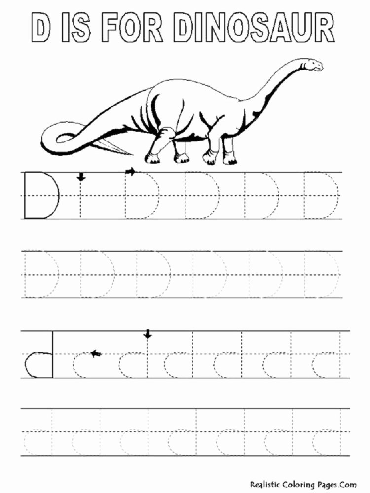 Kindergarten Dinosaur Worksheets Dinosaur Letter Coloring Pages