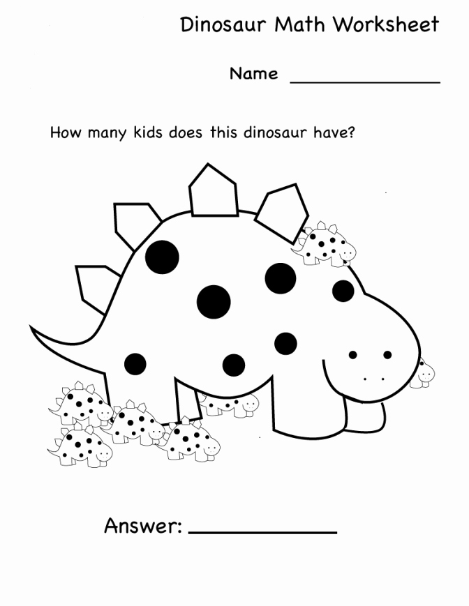 Kindergarten Dinosaur Worksheets Kindergarden Worksheet Math Kindergarten Worksheets Addition