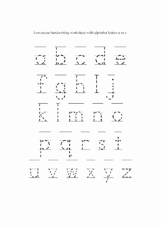 Kindergarten Lowercase Letters Worksheets Free Name Writing Template Blank Handwriting Worksheets