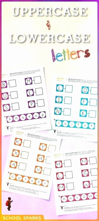 Kindergarten Lowercase Letters Worksheets Matching Lowercase and Uppercase Letters Worksheets