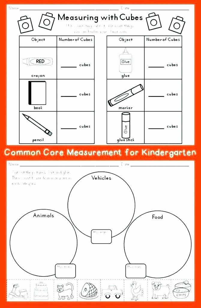 Kindergarten Math sorting Worksheets sorting Worksheets for Preschool Free Kindergarten Kids