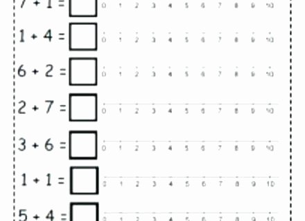 Kindergarten Number Line Worksheet Simple Math Addition Worksheets for Kindergarten
